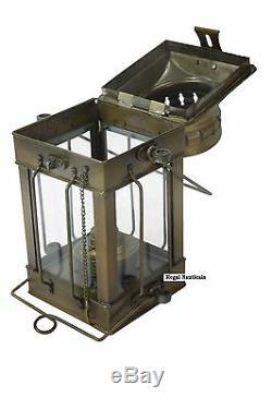 Nautical Antique Anchor Oil Lamp Maritime Ship Hanging Lantern Boat Light