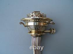 Oil lamp vintage Hinks no2 lever twin bayonet burner cork gasket VGC Hinks 8