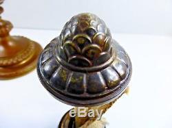 Original Complete Wild & Wessel Student Harvard Desk Oil Lamp Original W&w Shade