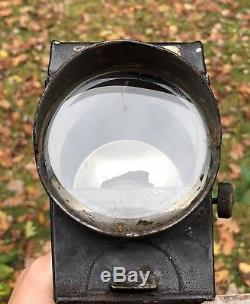 RARE Antique 1880s William Bown ROB ROY Bicycle SAFETY LAMP Oil Lantern Light