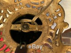 Rare ANTIQUE BRADLEY & HUBBARD GWTW BANQUET OIL LAMP Applied Branch & Leaves