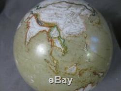 Rare Antique Atlas Map Of World Globe Oil Lamp Shade