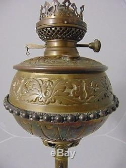Rare Antique Bradley Hubbard 1800s Brass Oil Lamp