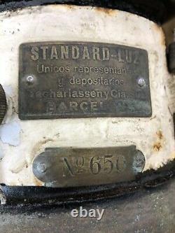 Rare Antique German Petromax Factory Loft Lamp Kerosene Donut Lantern No. 650