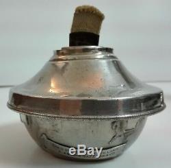 Rare Antique HITCHCOCK Clockwork Mechanical Kerosene Lamp