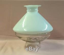 Rare Antique Ives Lamp Shade 2 Piece Kerosene Oil Light Old L@@k