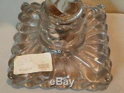 Rare Large 1800s Baccarat Crystal Oil Lamp Antique 25 Beautiful Tall