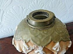Rare Victorian Alfred Stelmacher Triple Elephant Duplex Oil Lamp