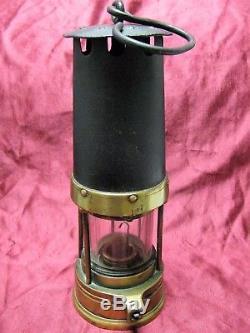 Rare Vtg Antique 1877-87 Davis & Son Black Bonnet Clanny #D Oil Coal Miner Lamp