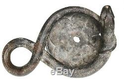Roman 1st 3rd Century A. D. Bronze Snake Oil Lamp / Vessel