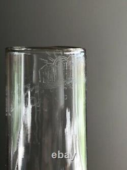 Scarce Blown Antique Pink Cranberry Opalescent Snowstorm Glass Kerosene Oil Lamp