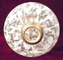 Spanish Lace Miniature Lamp Opalescent Clear Glass Kerosene Oil EAPG Antique