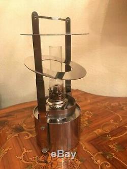 Stelton Stainless Steel Danish Ship's Oil Lamp Lantern Model 1004 Erik Magnussen