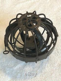 Stunning C1825 Antique Gimbal Whalers Ships Lantern Gyroscopic Whale Oil Lamp