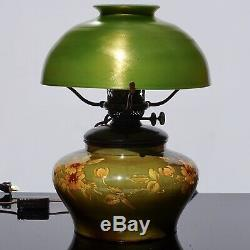 Tiffany Studios Bronze, Favrile and Pottery Oil Lamp