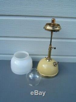 Tilley vintage short stem oil lamp original onion & white over shade TL14