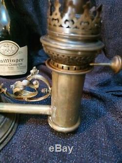 Unique Rare Ornate Victorian Brass Antique Oil Kero Lamp