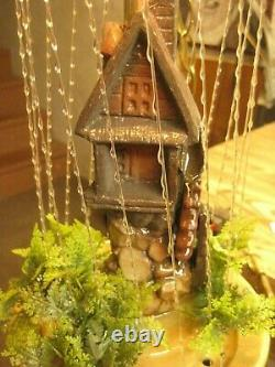 VINT. WORKING #OHM-38 OLD GRIST MILL OIL RAIN LAMP, WithINSTRUCTIONS & MINERAL OIL