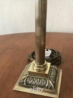 Victorian Brass Corinthian Column Electrified Oil Lamp Table Lamp H33cm