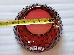 Victorian Hanging Oil Lamp Electrified 14 Cranberry Hobnail Glass Shade Gwtw