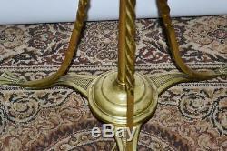 Victorian Hinks Brass Extending Standard Oil Lamp Converted Electric P3524