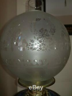 Victorian Royal Doulton Oil Lamp