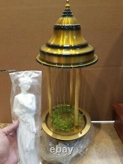 Vintage 1960's Fox Gold Oil Rain Lamp with White Greek Goddess 32 Table Model