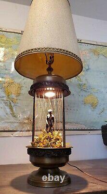 Vintage 60s/70s Oil Rain Lamp Nude Lady Greek Goddess RARE