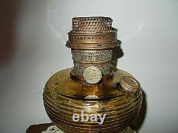 Vintage Aladdin Oil Lamp Amber Beehive Nu-type Model B Chicago