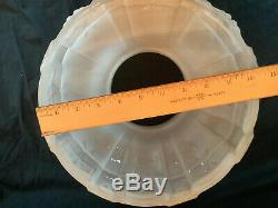 Vintage Antique Aladdin 416 Frosted Satin White Hanging Glass Oil Lamp Shade 10