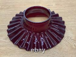Vintage Antique Red Ruby Cranberry Petticoat Glass Oil Lamp Chimney Shade