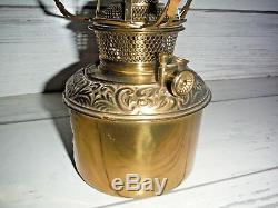 Vintage B&H Bradley Hubbard Center draft Brass slip out oil lamp font