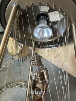 Vintage Hanging Nude Goddess Mineral Oil Falling Rain Lamp