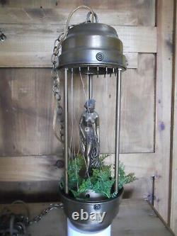Vintage working golden Greek Goddess woman mineral shower Oil Lamp Local Pick Up