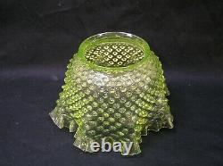 Vintage yellow hobnail Oil Lamp Shade, Bullseye Gas Light