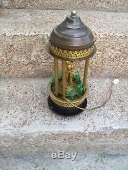 Vtg Nude Goddess 17 Mineral Oil Rain Swag Lamp Drop Drip Motion Table Light